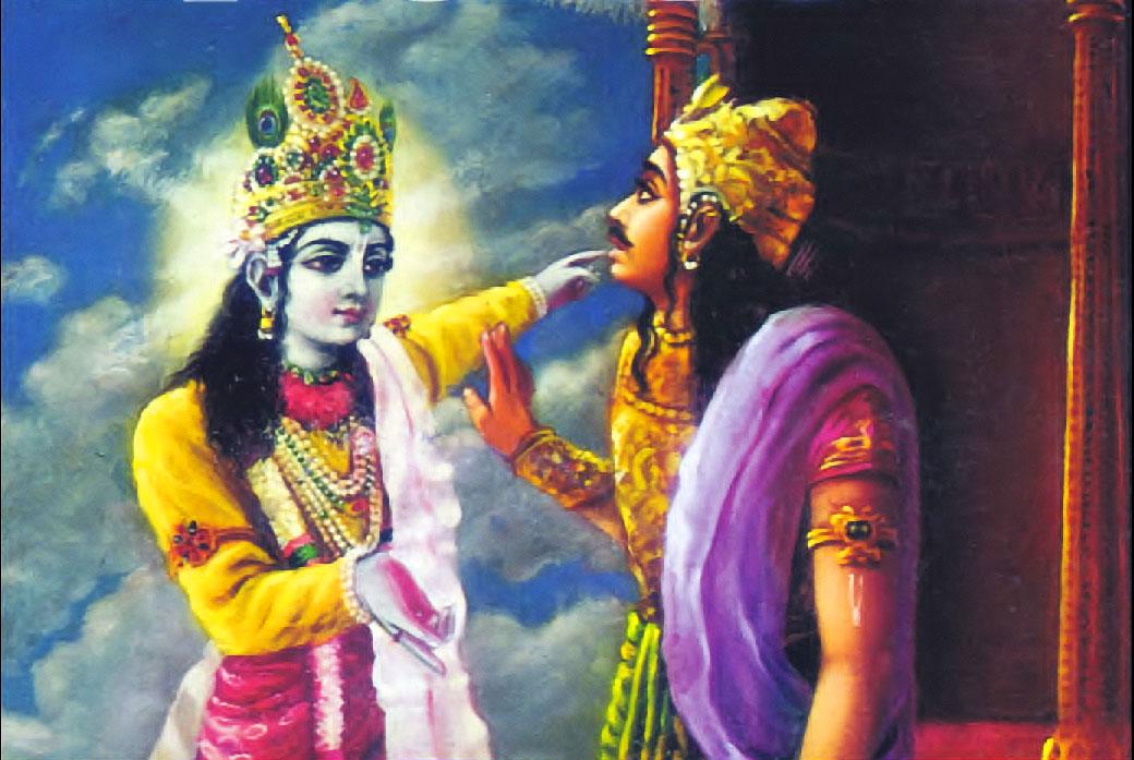 krishna and Arjuna, mahabharata et bhagavad-gita